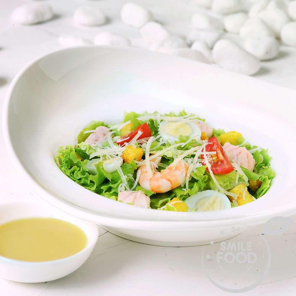 Вкусная неделя - Цезарь с морепродуктами (не более 1 шт в один заказ)