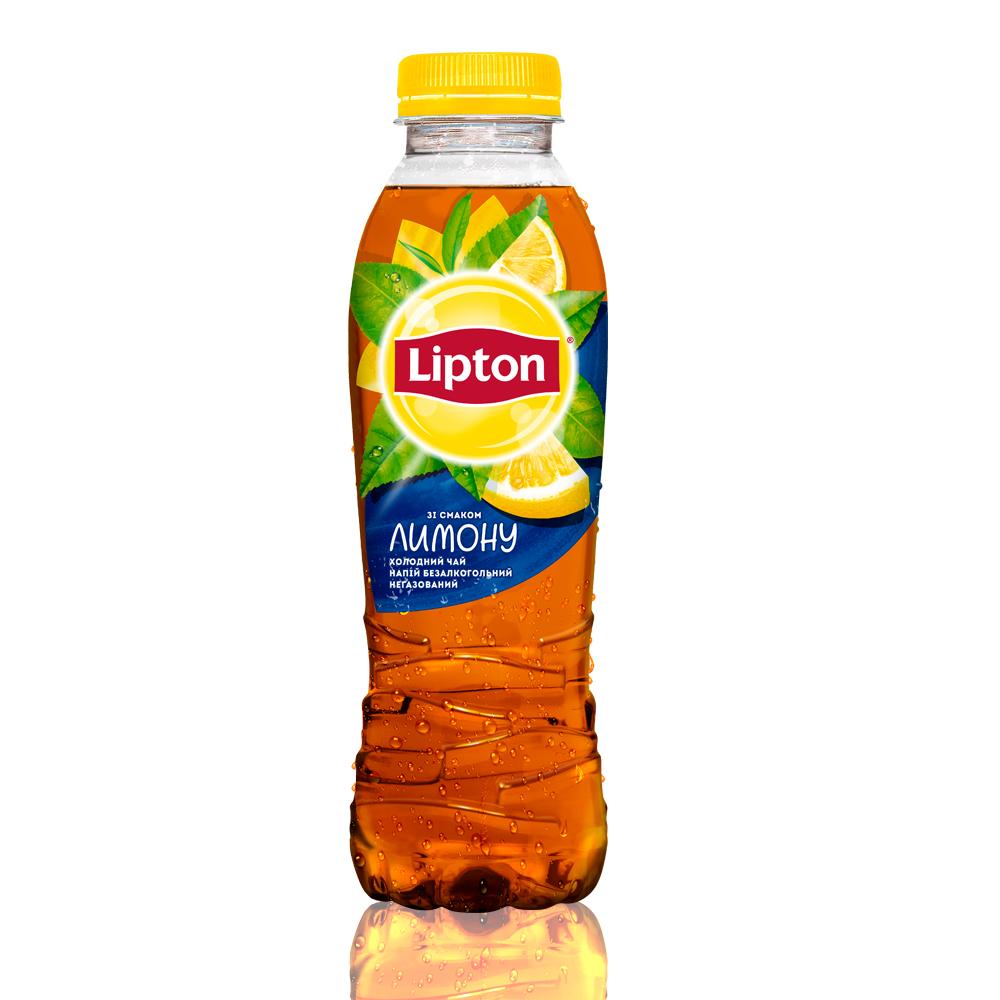 Холодный чай Lipton черный с лимоном
