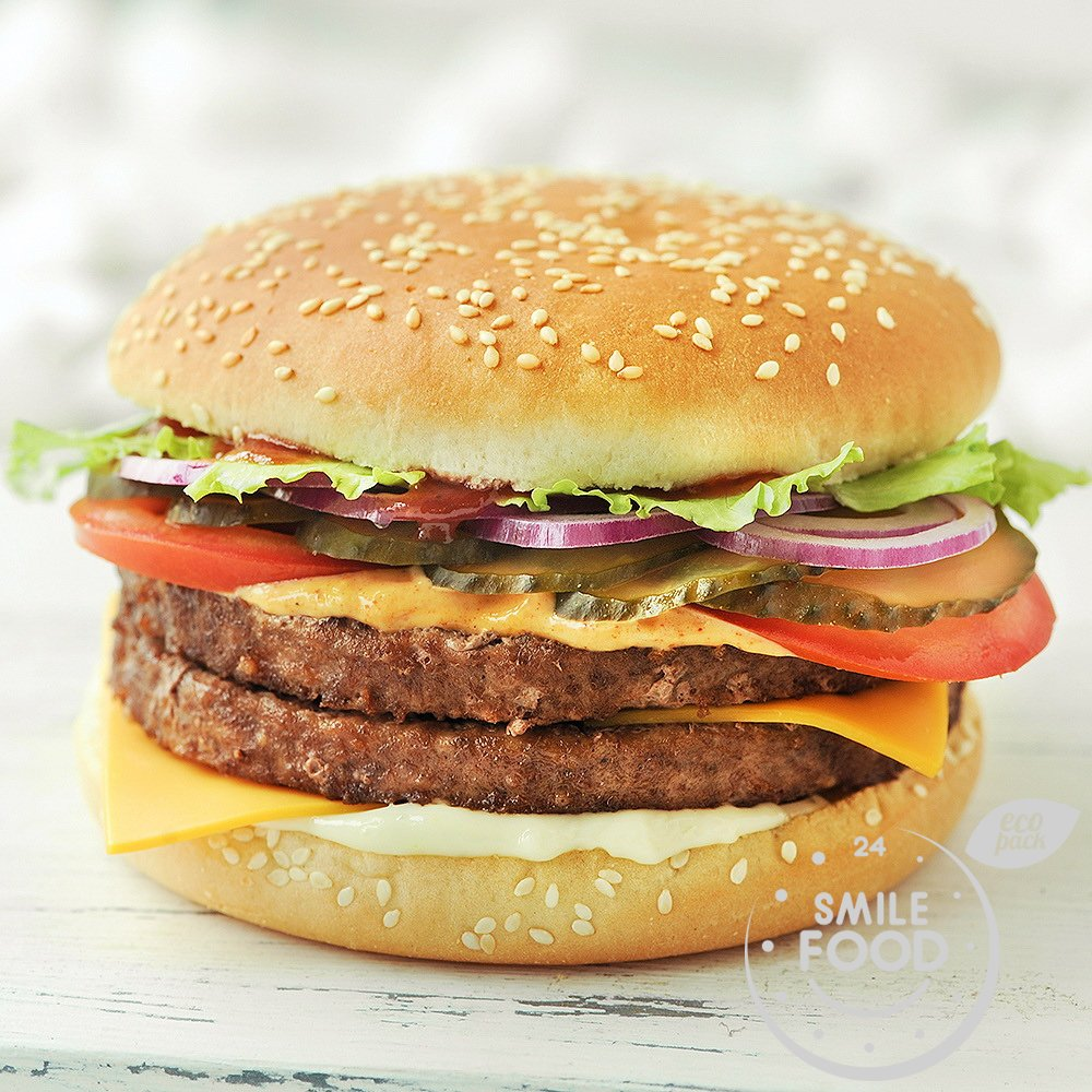 Дабл чизбургер свино-говяжий