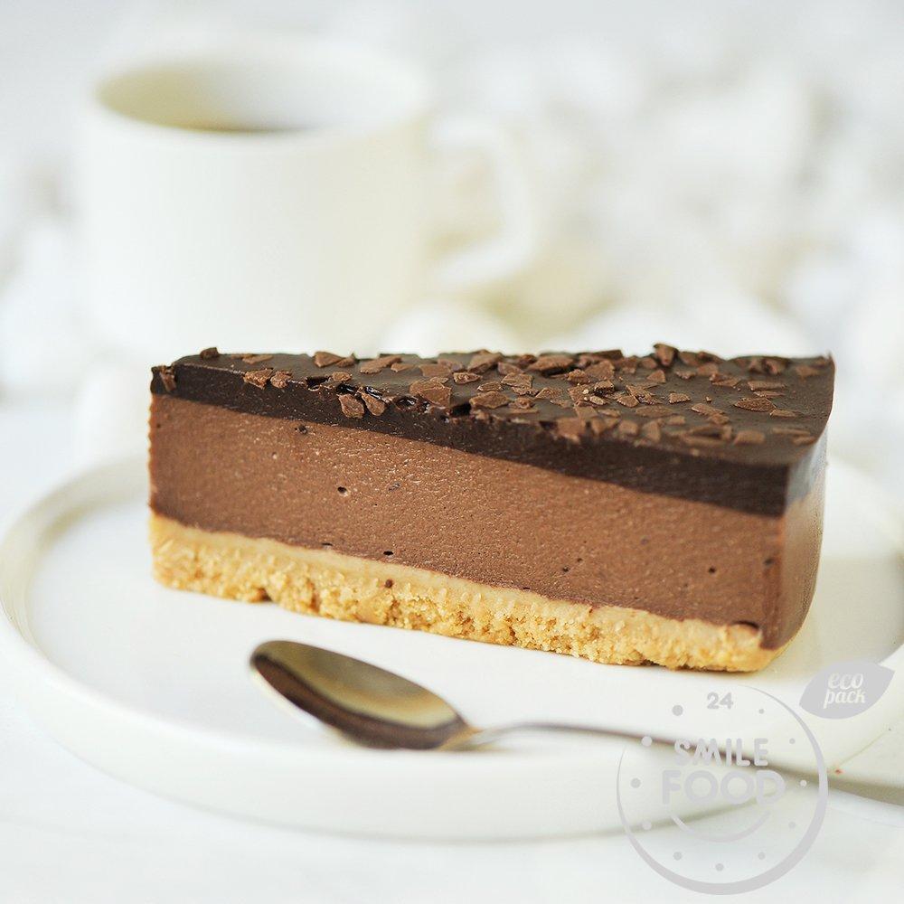 Шоколадный сырный пирог