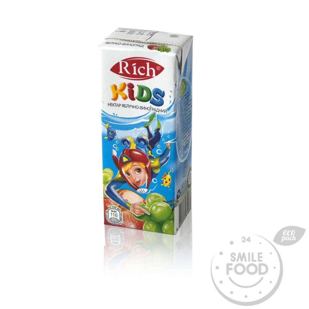 Сок Rich Kids Виноградно-яблочный