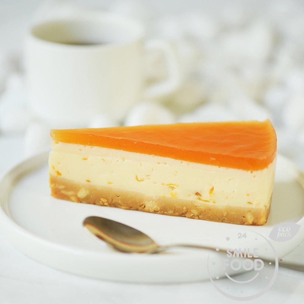 Персиковый сырный пирог
