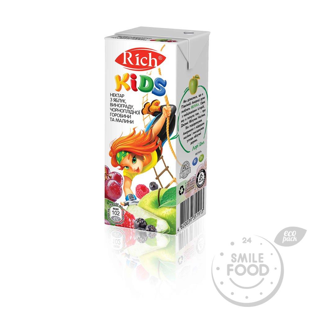 Сок Rich Kids Плодово-ягодный