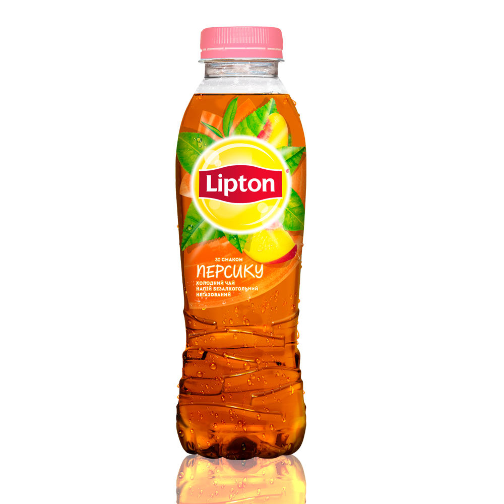Холодный чай Lipton черный с персиком